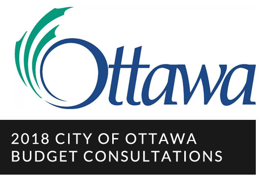 2018 City Of Ottawa Budget Consultations